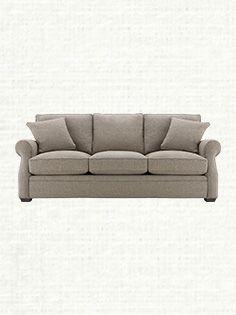 "Landsbury 90"" Upholstered Sofa With 3 Cushions In Theater Gunsmoke"