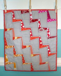 zig zag lightening, single seam squares, perfect for scraps, so many reasons to love this