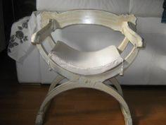 Sedia in stile shabby chic colore bianco/avorio