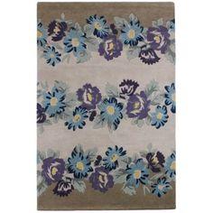 At home with Ashley Thomas Multi-coloured wool 'Floral Garden' rug- at Debenhams.com