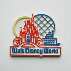 Vintage Walt Disney Walt Disney World Rubber Fridge Magnet | eBay