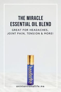 Miracle Essential Oil Blend – Great for Headaches! The Best Headache Essential Oil Blend - perfect for roller bottles Essential Oils For Migraines, Doterra Essential Oils, Young Living Essential Oils, Essential Oil Blends, Migraine Essential Oil Blend, Spearmint Essential Oil, Yl Oils, Perfume Good Girl, Essential Oils