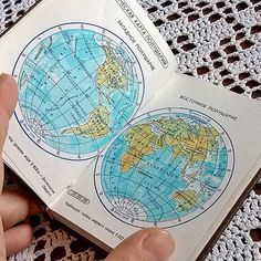 1985 geography maps atlas America miniature book by MyWealth, $7.50