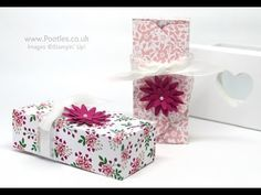 """Love Blossoms DSP Stack, Envelope Punch Board, Blossom Bunch punch, Whisper White 5/8"""" Organza Ribbon - 6x6 Envelope Punch Board Box"""