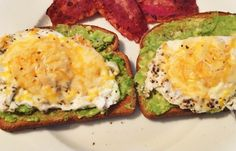 Avocado Toast with a Fried Egg #food #recipe #healthy
