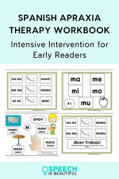 This Spanish Apraxia speech therapy resource is perfect for SLPs working with Spanish/ Bilingual students. This apraxia resource corresponds to the method reading is taught in Spanish in bilingual kindergarten! It includes CV, CV CV moving to CVCV, CVCV, CVC