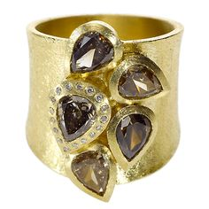 Todd Reed | trdr489-18ky-L | 18ky gold, fancy cut diamonds (4.26ctw), white brilliants(.068ctw) | Max's