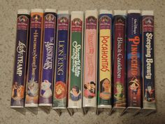 Lot of 30 VHS Disney Masterpiece Collection Black Diamond Plus Clamshell VHS