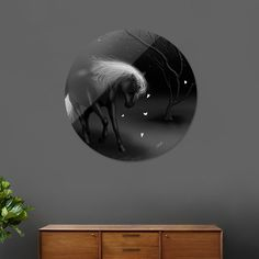 Discover «Black Horse», Limited Edition Disk Print by MANDI - From $65 - Curioos