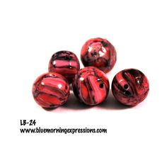 Handmade Polymer Clay #Beads , Polymer Clay Beads for Sale, Jewelry Making Supplies, Round Beads