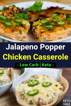 Chicken casserole with jalapeño is a smooth and creamy recipe with unparalleled flavor. If you are on the Keto diet, you should try this low carb version of casserole. The roasted chicken, bacon and…More 6 Indulgent Sugar Free Casserole Ideas Jalapeno Popper Chicken, Jalapeno Poppers, Jalapeno Cheese, Chicken Bacon, Roasted Chicken, Keto Chicken, Chicken Legs, Low Carb Chicken Casserole, Casserole Recipes