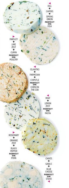 Flavored butter recipes for chicken, corn, steak, pork, pasta, and more!
