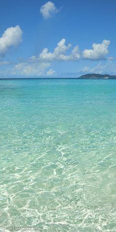 Nothing but sun, sand and sea ....at Trunk Bay, Saint John, US Virgin Islands National Park.