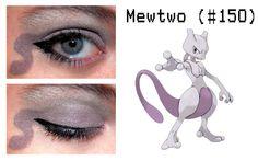 Mewtwo Pokemon Eye Makeup