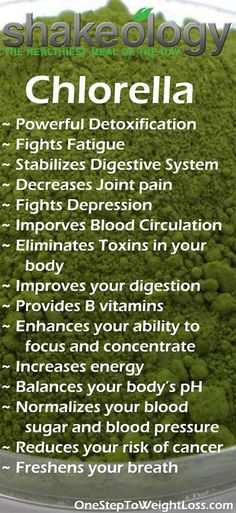 One many amazing Shakeology ingredients! Chlorella is one of the most powerful detoxification tools to eliminate accumulated toxins, including mercury, in your body. Find out what else Shakeology can do for you: http://www.tipstoloseweightblog.com/shakeology/shakeology-nutrition-facts #ShakeologySuperfoods