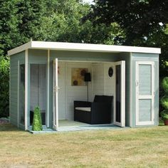 12ft x 8ft Pent Wooden Garden Summerhouse. A stylish contemporary design. .