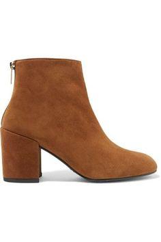 Stuart Weitzman - Bacari Suede Ankle Boots - Camel - IT
