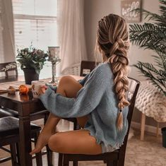 Pretty Braids And Braided Hairstyles That Are Really Awesome - Hair and Beauty eye makeup Ideas To Try - Nail Art Design Ideas Braided Ponytail Hairstyles, Pretty Hairstyles, Wedding Hairstyles, Hairstyles 2018, Straight Hairstyles, Pretty Braids, Good Hair Day, Hair Dos, Hair Inspiration