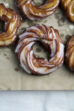 Apple Cider French Crullers {Katie at the Kitchen Door} //Manbo