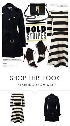 """Big, Bold Stripes"" by helenevlacho ❤ liked on Polyvore featuring STELLA McCARTNEY, Loeffler Randall, M&Co, contestentry and BoldStripes"