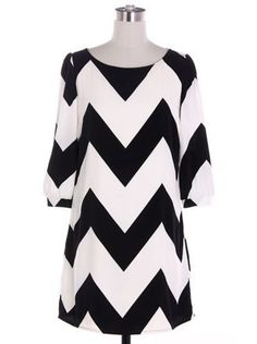 Chevron Dress in Black and White - $46.99 : FashionCupcake, Designer Clothing, Accessories, and Gifts