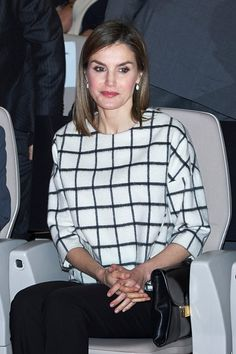 Royal Family Around the World: Queen Letizia of Spain Attends Red Cross World Day Commemoration at the Palacio de Congresos auditorium on May 09, 2016 in Albacete, Spain
