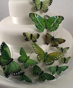 Inexpensive butterfly wedding cake decorations $15.98