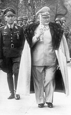 "Reichmarshal Hermann Wilhelm Göring , Luftwaffe General Paul  Conrath in 1942. Assured Der Fürhrer Adolf Hitler that if an Allied  bomber reached Berlin he could call him ""Meyer""  Disgruntled Germans of Berlin privately did!"
