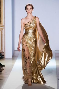 Zuhair Murad - Haute Couture - Spring 2013 - Spring Most Beautiful Haute Couture Gowns - StyleBistro Greek Goddess Dress, Greek Dress, Greek Goddess Costume, Greek Goddess Makeup, Haute Couture Gowns, Couture Dresses, Couture Fashion, Paris Fashion, Juicy Couture