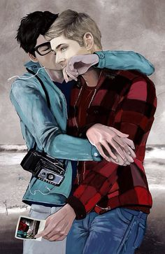 cute Destiel fan art Dean and Cas in love