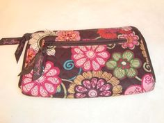 Nice Vera Bradley Retired Mod Floral Pink 2007-2009 Quilted Clutch Wallet EUC #VeraBradley #Clutch
