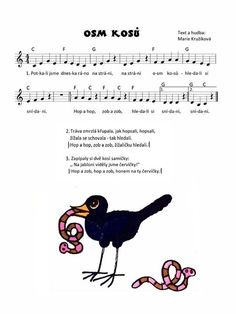 Kids Songs, Poems, Singing, Paper Crafts, Education, Fictional Characters, Birds, Sheet Music, Musicals