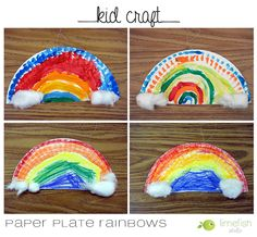 Kid Craft: St. Patty's Day Paper Plate Rainbows