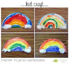 Kid Craft: St. Patty's Day Paper Plate Rainbows © Limefish Studio