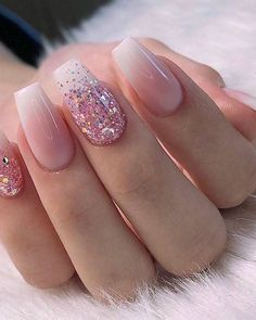 28 Charming Nails For When You Have Nothing to Try 2019 dipglitternails luxury nails - tj nails - style - model - pic Glitter Nailsnailsvibez By julietsaphira nailartist source fashion b 8 White Acrylic Nails, Summer Acrylic Nails, Best Acrylic Nails, Spring Nails, Summer Nails, White Nails With Glitter, Glitter Nail Designs, Acrylic Nail Designs Glitter, Pink White Nails