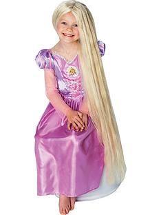 disney-princess-rapunzel-long-glown in -the-dark-childs-wig