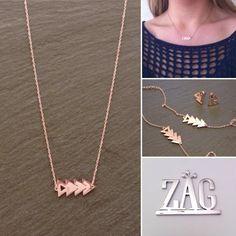 Collier triangles acier rosé Zag Bijoux - 28,99€