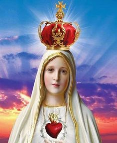 Our Lady of Fatima! Jesus Mother, Blessed Mother Mary, Blessed Virgin Mary, Mother Mary Images, Images Of Mary, Old Catholic Church, Catholic Religion, Jesus Christ Images, Jesus Art
