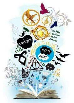 Books. Divergente - Los Juegos Del Hambre - Crepusculo - Bajo La Misma Estrella - Cazadores De Sombras - Harry Potter - Las Cronicas De Narnia