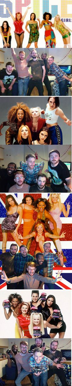 So fabulous.--Guys posing like the Spice Girls