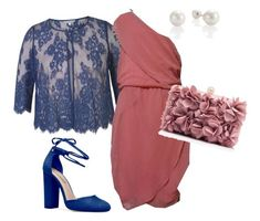 """""""A Pink One Shoulder Dress"""" by itskellyly on Polyvore featuring Chesca"""
