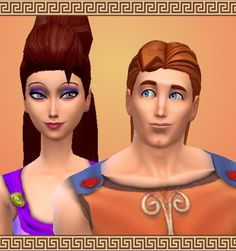 Hercules & Megara by mickeymouse254 at Mod The Sims via Sims 4 Updates