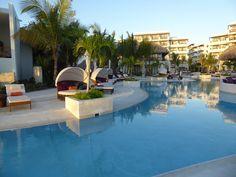 Preferred club pool area at Secrets Cap Cana
