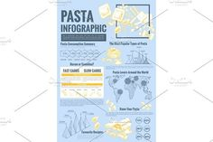 Pasta vector infographics and design elements. Infographic Elements