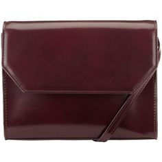 Kin by John Lewis Loren Clutch Box Bag , Oxblood (430 HNL) ❤ liked on Polyvore featuring bags, handbags, clutches, oxblood, purple handbags, oxblood handbag, purple purse, faux-leather handbags and party clutches