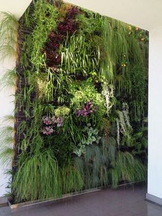 Vetical Gardens A vertical garden can be produced cheaply with garden netting and a few of your preferred climbing plants. Do It Yourself Projects - Develop a Do This Yourself Outdoor Living Wall Vertical Garden Planter Vertical Garden Planters, Vertical Garden Design, Backyard Garden Design, Backyard Ideas, Jardin Vertical Artificial, Artificial Plants, Vertikal Garden, Micro Garden, Garden Netting