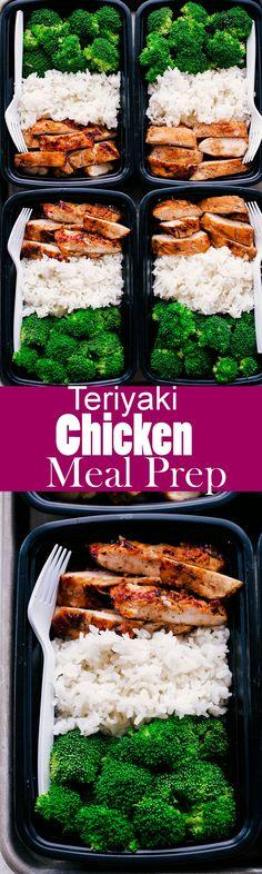 EASY TERIYAKI CHICKEN MEAL PREP Easy Meal Prep Lunches, Meal Prep Freezer, Meal Prep Dinner Ideas, Simple Meal Prep, Weekly Meal Prep, Easy Healthy Meal Prep, Lunch Meals, Fit Meals, Best Meal Prep