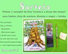 """Sorteio no Twitter: um exemplar do livro """"Lavínia e a Árvore dos Tempos"""", do Lucinei M. Campos, e brindes"""