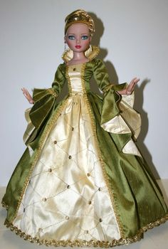 """Royal Enchanted Court Gown for 16"""" Ellowyne Wilde Dolls Tonner by designsbyjude"""