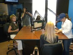 """Ci Ci Berardi Show Some Love Celebration, Dolores Seright author of """"Shattering Barriers"""", Kimber Leigh, and Christina Wagner of 1260 am Talk Radio ready to go live."""